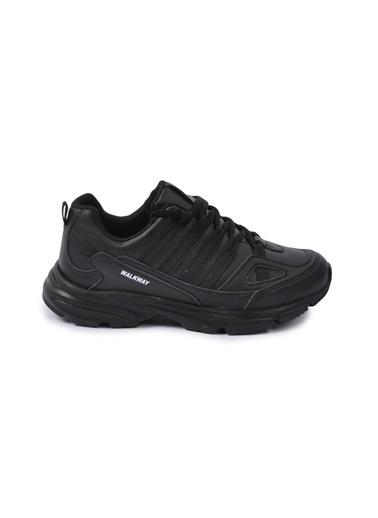 Walkway Prt-215 Siyah-Siyah Unisex Spor Ayakkabı Siyah